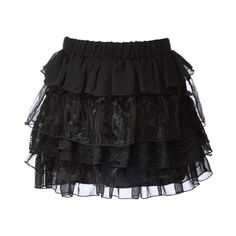 """15"""" Shiney Chiffon and Lace Tiered Skirt ❤ liked on Polyvore featuring skirts, mini skirts, bottoms, saias, faldas, women, tiered skirts, tiered mini skirt, lace mini skirt and chiffon skirt"""