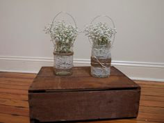 Ray & Day: D.I.Y. Shabby-Chic Lace-Covered Mason Jar Lanterns