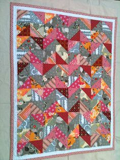 Amaryliss Baby Girl Quilt by Mama Roux, via Flickr