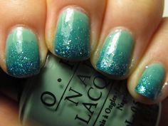 Never Unpolished: OPI Mermaid's Tears (and a Gradient)