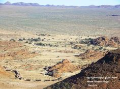 Springbokvlakte plains from above Canyon Village. http://www.gondwana-collection.com/home/accommodation/canyonvillage/  #namibia #canyonvillage #plains #lodge #fishrivercanyon