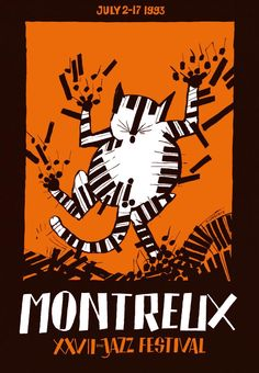 27th Montreux Jazz Festival (Switzerland) - Artwork by Tomi Ungerer. 2014 Festival Info: http://www.festivalarchive.com/event/montreux-jazz-festival-2014/