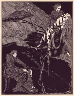 "Harry Clarke's haunting Illustrations for a special edition of Edgar Allan Poe's ""Tales of Mystery and Imagination"" (published in1919)."