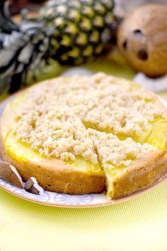 ananas, farine, sucre, beurre, oeuf, noix de coco rapée, malibu coco, Sel, sucre, jus d'ananas, noix de coco rapée, jus de citron