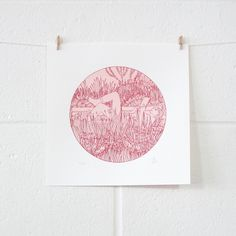 Silk Screen Print Colours: 2 Limited Edition of: 50 Image size: 17cm diameter Paper size: 25 x 25cm Paper: Fabriano 5 Smooth 210gsm Date: 2013 £40  #screenprint #print #art #illustration #drawing #gift #lauriehastings
