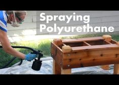 Embedded thumbnail for HVLP Spraying Polyurethane on Outdoor Projects by Darbin…
