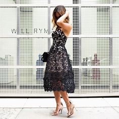 Look at that lace. #TheNewRunway #streetstyle
