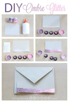 Make an awesome ombre card with this How To'sday tutorial with Tim Holtz Distress Glitter. Find it on #scrapbookSTEALS #tutorial #glitter #ombre