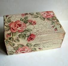 Image result for cajitas de madera decoradas con decoupage