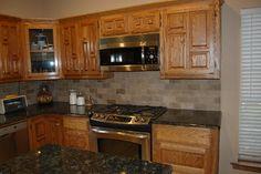 tile backsplash with dark countertops   Granite Countertop Tile Backsplash Verde Design Ideas, Pictures ...