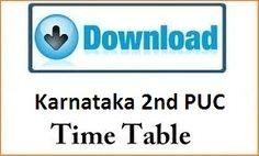 Karnataka 2nd PUC Time Table 2017 - KSEEB II PUC Exam Date sheet