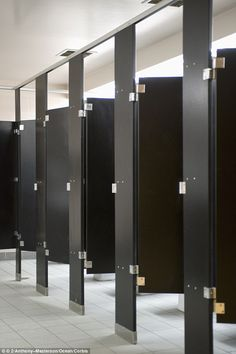 Image result for black stalls in public bathrooms