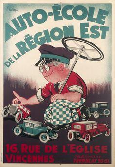 Cahon, A., Auto-Ecole de la Region Est - Rue de L'Eglise Vincennes (1920 ca.)