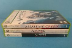 3 Assassins Creed Xbox 360 Game Lot Assassin's Creed One 1, 2 & Revelations