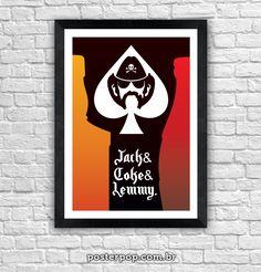 """Poster """"Lemmy & Jack & Coke"""""""