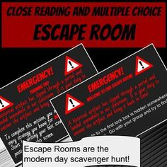 Escape rooms are the latest craze!  Get your kids out of their seats and learning meaningful close reading skills and multiple choice strategies.  I used this activity to spice up my test prep, but it can be used any time you want to get kids moving and reinforce close reading and multiple choice skills.