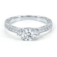 Handel 1ct TW Diamond Engagement Ring in 14K Gold available at #HelzbergDiamonds