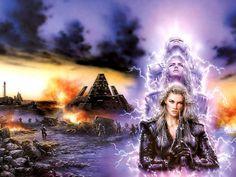 Science Fiction Fantasy Art | ... Fantasy Art, gun, lightning, Luis Royo, science fiction, scifi