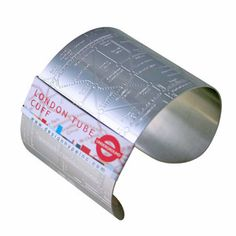 London Tube Cuff Embossed now featured on Fab.