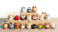 Polymer Clay Animals, Cute Polymer Clay, Cute Clay, Polymer Clay Charms, Diy Clay, Polymer Clay Jewelry, Paper Clay, Clay Art, Clay Figures