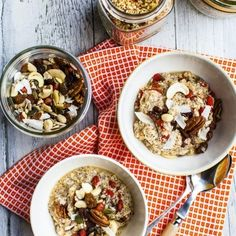 Best Hemsley and Hemsley recipes: We like quinoa because it's protein-rich and gluten-free, plus this porridge contains some of our favourite nourishing ingredients, such as coconut and goji berries. See full recipe on redonline