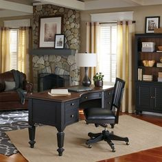 The Grandview Curved Half Pedestal Desk with Chair is an ergonomic office solution that makes it easy to use today's technology. The curved desktop shape provides ample workspace and encourages correct sitting posture. Dump Furniture, Office Furniture Stores, City Furniture, Large Furniture, Shabby Chic Furniture, Furniture Deals, Tuscan Furniture, Business Furniture, Distressed Furniture