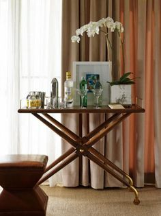 furniture-meubles: Hickory Chair Furniture. Bar Cart Cachet.