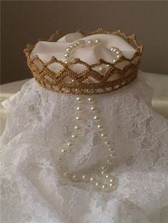 crochet bride crown by AnnCarolyn,