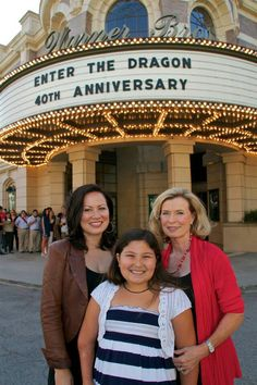 """Shannon Lee, granddaughter Wren Lee Keasler & widow Linda Lee Cadwell at the special screening for the remastered """"Enter the Dragon""""."""