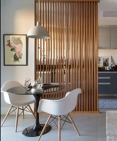 wood partition for living room