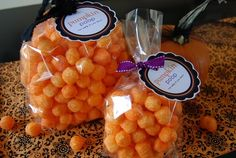 Pumpkin Poop FREE printable tag. Just cheese puffs or twisties in a clear cello bag with ribbon and tag - easy and CUTE