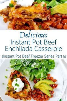 Looking for a wonderful dish for your instant pot? This Delicious Instant Pot Beef Enchilada Casserole is amazing! Part 5 in the Beef Freezer Meal series! Enchilada Casserole Beef, Beef Enchiladas, Slow Cooker Recipes, Beef Recipes, Ninja Recipes, Mexican Recipes, Recipies, Beef Freezer Meals, Tomato Cream Sauces