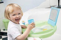 Rotho Babydesign Kiddy Wash Lavabo à Suspendre sur la Baignoire Blanc/Silver Grey/Taupe: Amazon.fr: Bébés & Puériculture