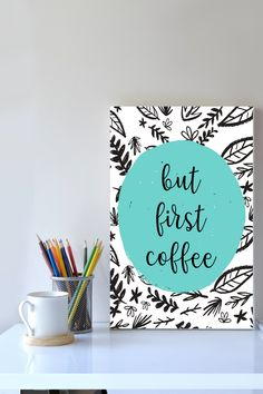 Looking for a funny coffee wall print to go in your kitchen or dorm room? This sarcastic coffee lovers gift is the perfect addition to your home decor. It is an instant download so you can print it straight away, no having to go out to shops, no waiting times, no shipping costs! Awesome!! discover more funny prints and coffee wall art now #funnywallart #coffeeloversgift #kitchendecor #instantdownload #coffeeprints
