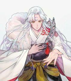 Inuyasha- Sesshomaru art,so cool Inuyasha And Sesshomaru, Inuyasha Fan Art, Inuyasha Love, Inuyasha Funny, Anime Demon, Manga Anime, Anime Art, Anime Cosplay, Seshomaru Y Rin