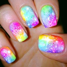 Looks like a rainbow galaxy!