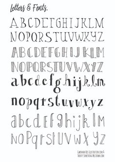 8 different hand lettering fonts you can add to your bullet journal or style up you note taking! I also make bullet journaling videos! Bullet Journal Alphabet, Bullet Journal Décoration, Bullet Journal Printables, Bullet Journal Aesthetic, Bullet Journal Ideas Pages, Bullet Journal Inspiration, Bullet Journal Hand Lettering, Beginner Hand Lettering, Types Of Lettering