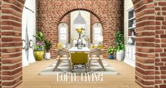 I adore these gorgeous brick arches, because the only thing better than loft living is lofte living.