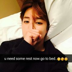 when your parents say go to bed you don't listen and when Jimin says go to bed, you immediately go to bed. XD