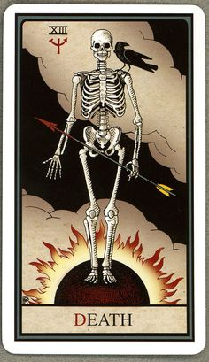 Death - Alchemical Tarot Edition by Robert M. This card symbolizes one of the stages of the Fool's Journey towards self-discovery. The Fool stands for all of us. Xiii Tarot, Angel Of Death Tattoo, Death Symbols, Tarot Death, Tarot Card Tattoo, Oracle Cards, Tarot Cards, Divination Cards, Dark Art