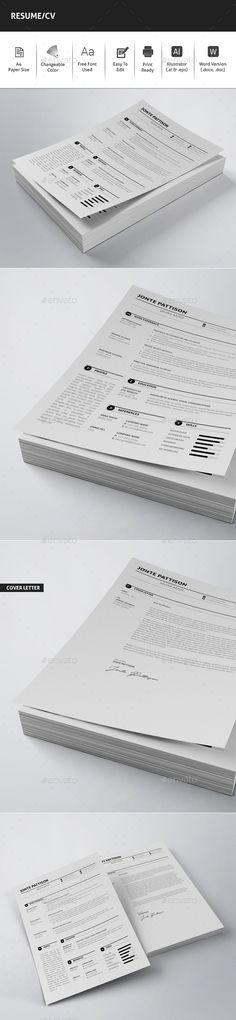 Resume Cv template and Resume cv - cvs resume paper