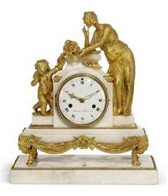 louis xvi marble and ormolu clock