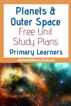 Hands-on Science, Living Books, Sensory, and Phonemic Awareness activities are all packed into this Planet and Outer Space Family Schooling Unit Study for Homeschoolers. Part of a larger Astronomy Astronauts unit study. Phonemic Awareness Activities, Space Facts, Family Units, Space And Astronomy, Space Planets, Outer Space, The Unit, How To Plan, Galaxy Universe