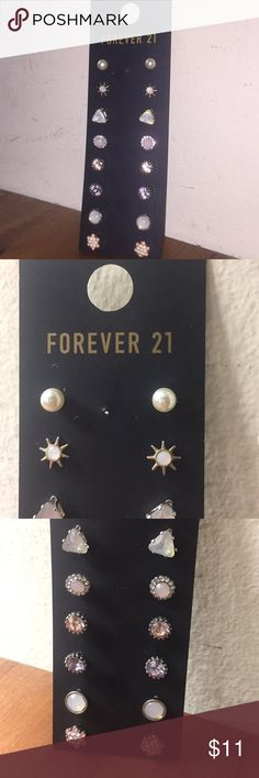 Brand New Forever 21 Earring !! There never used like literally I got them for a bday gift and never worn them ... :( might as well sell them . There perfect and clean !!! Any questions just ask Forever 21 Jewelry Earrings