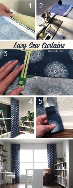 Easy Sew Curtains: I