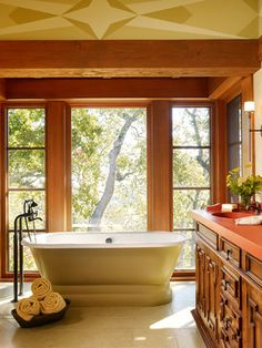 Carmel Valley Retreat - mediterranean - Bathroom - San Francisco - ScavulloDesign Interiors