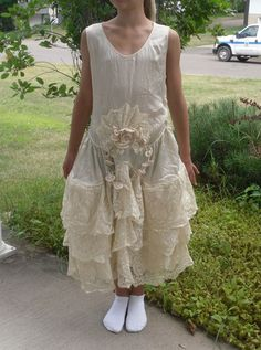 1920's robe de style wedding dress