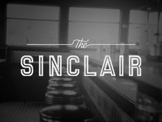 Sinclair—a rejected logo option. Design by Jennifer Lucey-Brzoza of Oat Creative