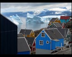 Greenland. Love the house colors.