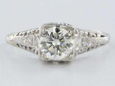 stunning vintage engagement ring